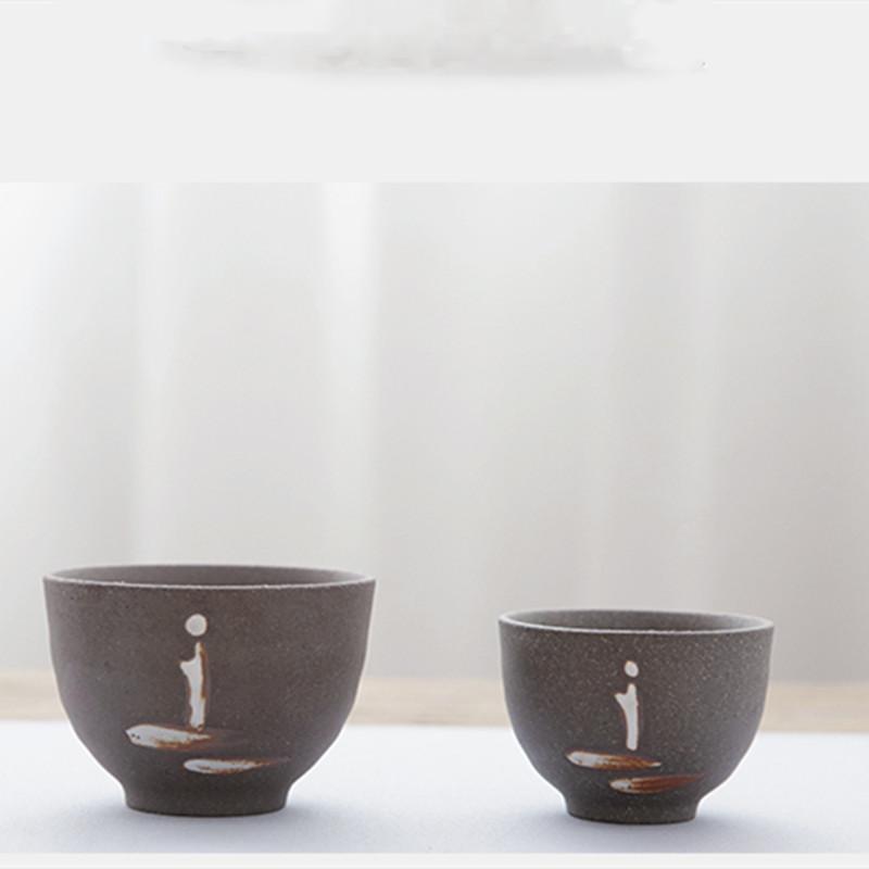 Vintage Zen-Tee-Schalen-japanische Art Coarse Keramik Teacup Handgemachte Master Cup Teeschale Kreativer Hauptdekor Neue Trinkgefäße