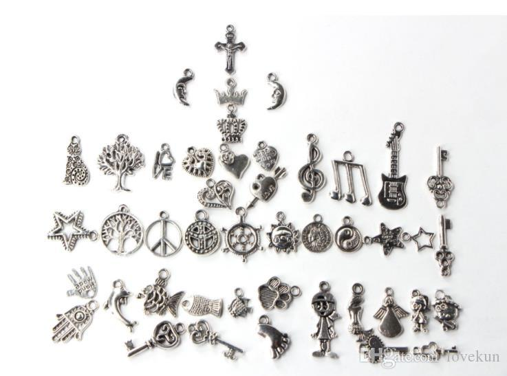فضفاض الخرز سحر المعدنية ل Pandora DIY مجوهرات سوار للسحر الأوروبي BraceletNecklace