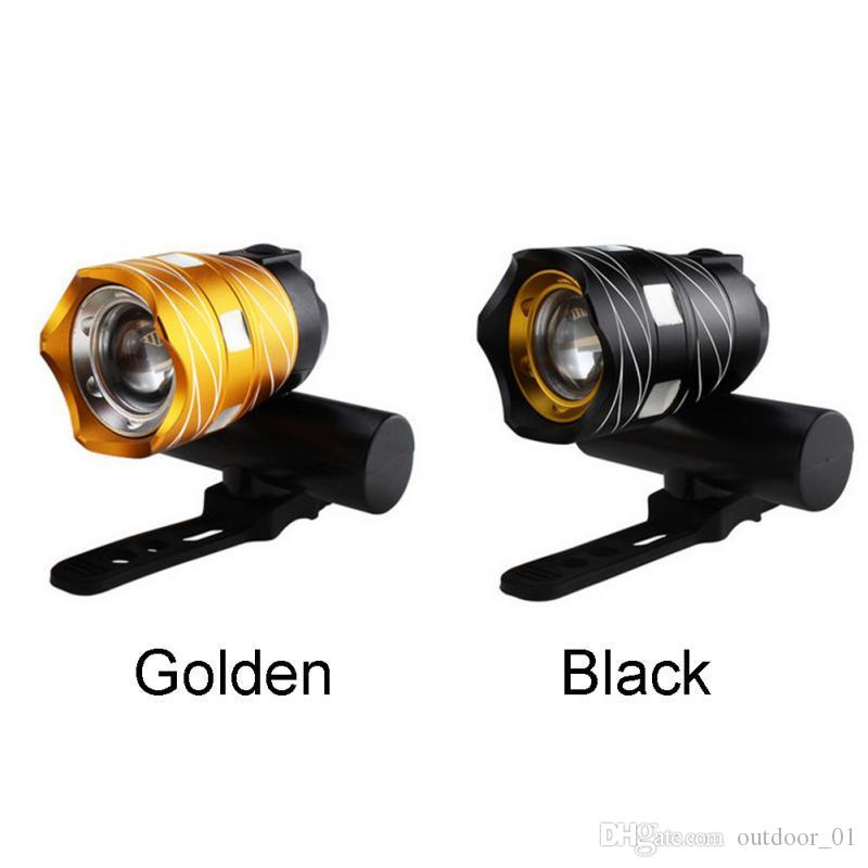 New high quality gold black highlight USB headlight bicycle LED light bicycle accessories 300 lumens free shipping