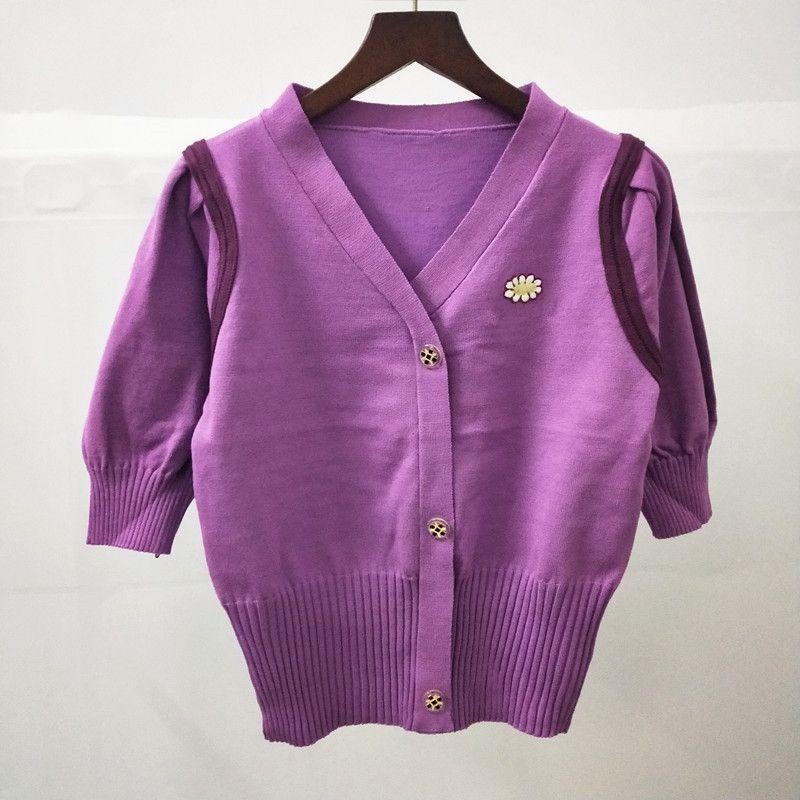 2020 été Slim Fit Gao Taille V Col bulle manches à tricoter Cardigan Femmes202031920200321 Femmes3190321