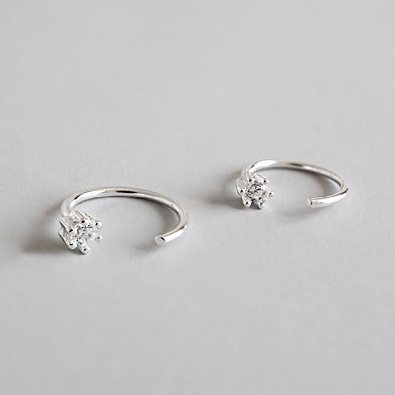 100% reale 925 sterling silver cuff cuffia orecchini per le donne ragazza senza orecchini penetranti belle gioielli partito YME259