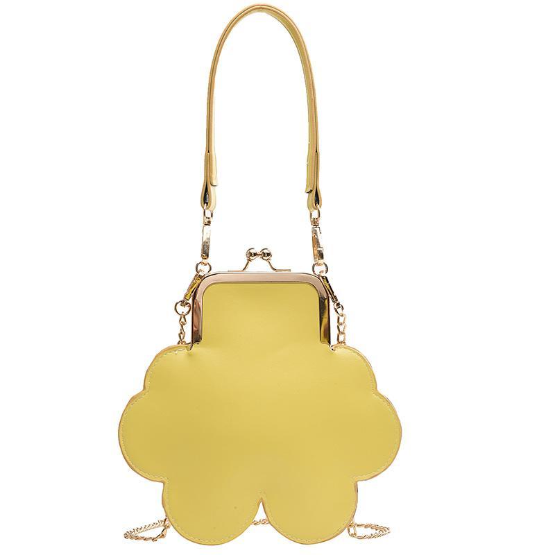 Tatlı Kız Karikatür Tote çanta 2019 Yaz Yeni Yüksek Kalite PU Deri kadın Tasarımcı Çanta Kilit Zinciri Omuz Messenger çanta