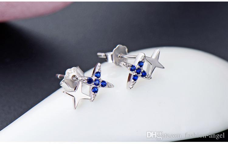 regalo di giorno orecchini di San Valentino delle donne S925 argento sterling SS925 orecchino strass Ear Stud cristallo earbobs fornitore fabbrica DDS1596