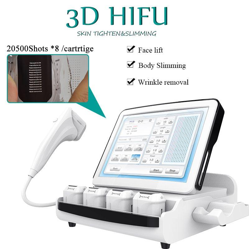 portable ultrasonund face lift hifu 3d newly body shaper slimming hifu high intensity focused ultrasound 3D HIFU machine free shipping