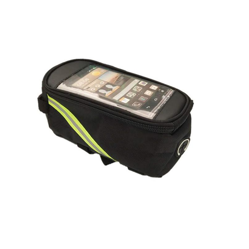 Waterproof Bicycle Bag Bike Front Top Frame Handlebar Bag Basket For Cellphone Bike Accessories Cycling Safety Equipment #2a