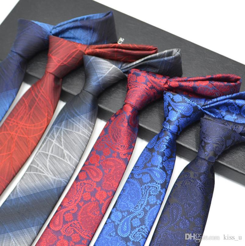Fashion Mens Business Neck Tie Men Skinny Necktie Wedding Ties Black Dot Striped
