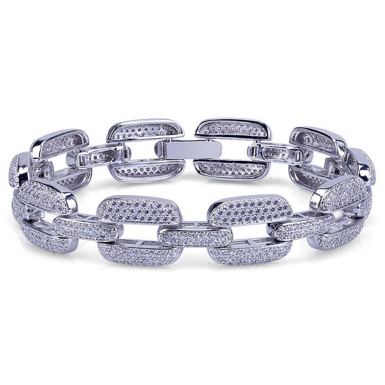 роскошь дизайнер ювелирных женщин браслетов способ 18K позолоченных цепи браслеты Iced Out Роскошный Циркон Мужчина Hip Hop Браслеты