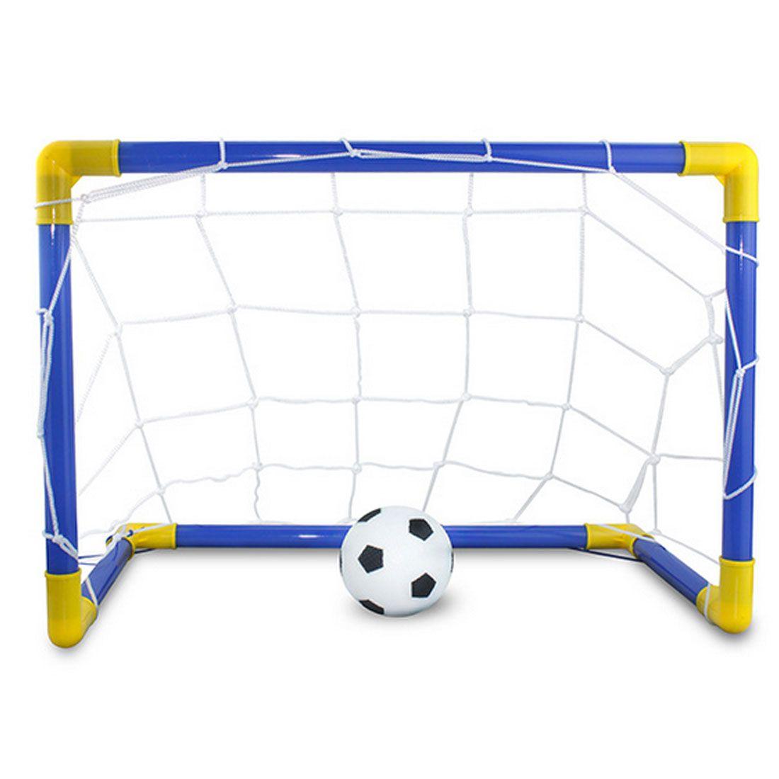 1 세트 DIY 어린이 스포츠 축구 목표 축구 공 및 펌프 야외 스포츠 연습 Scrimmage 게임 분리 가능한 축구 게이트