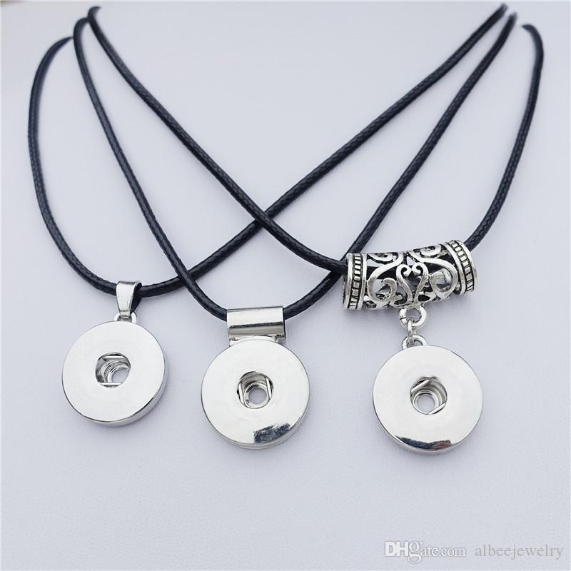 Simple Round Charms Metal Ginger 18mm Snap Buttons Necklace Women Men Noosa Chunks Jewelry