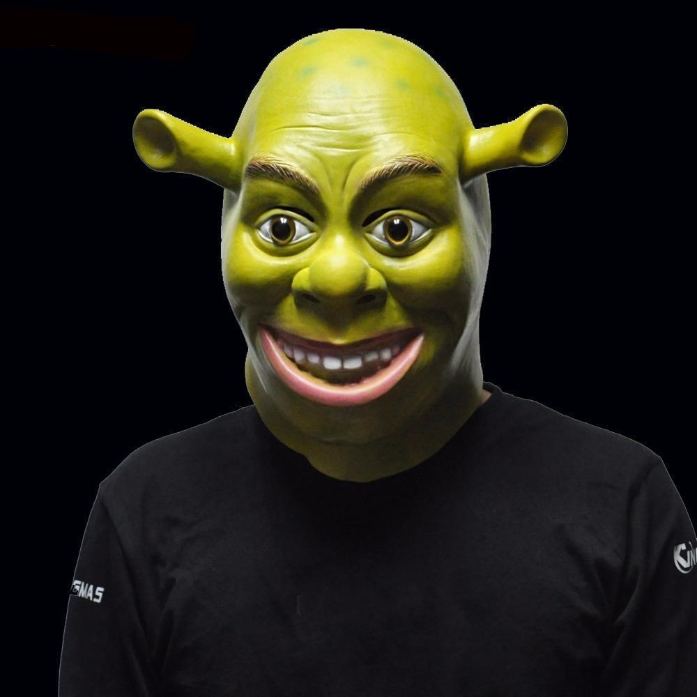 Vert Shrek latex Masques cosplay film Prop adulte Fêtard Masque pour Halloween