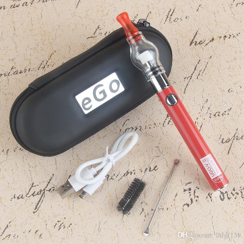 Original UGO V II 2 650 900mah EVOD ego 510 Battery micro USB Passthrough vaporizers with glass globe e cigarette dry herb atomizer e cigs