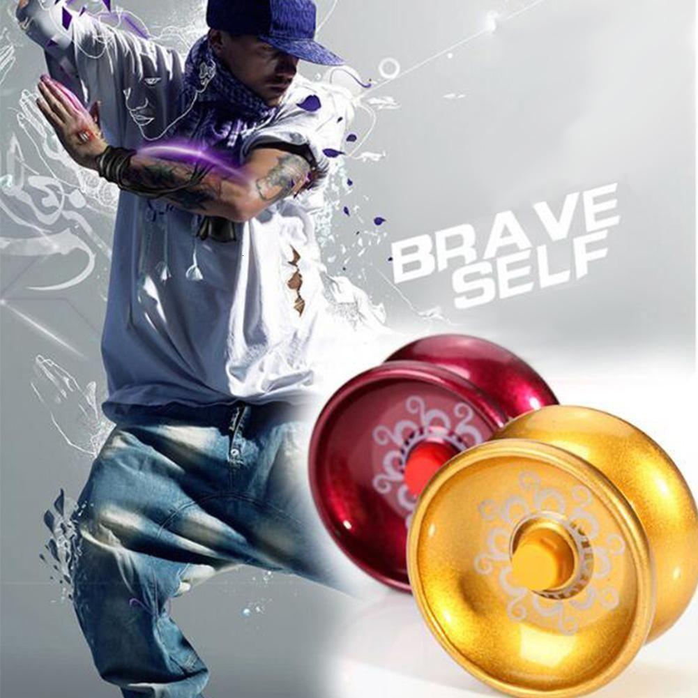 Atacado Truque 10 Pcs Liga design de alumínio alta velocidade Professional YoYo Bola de Cordas YoYo Toy Crianças Juggling Magia