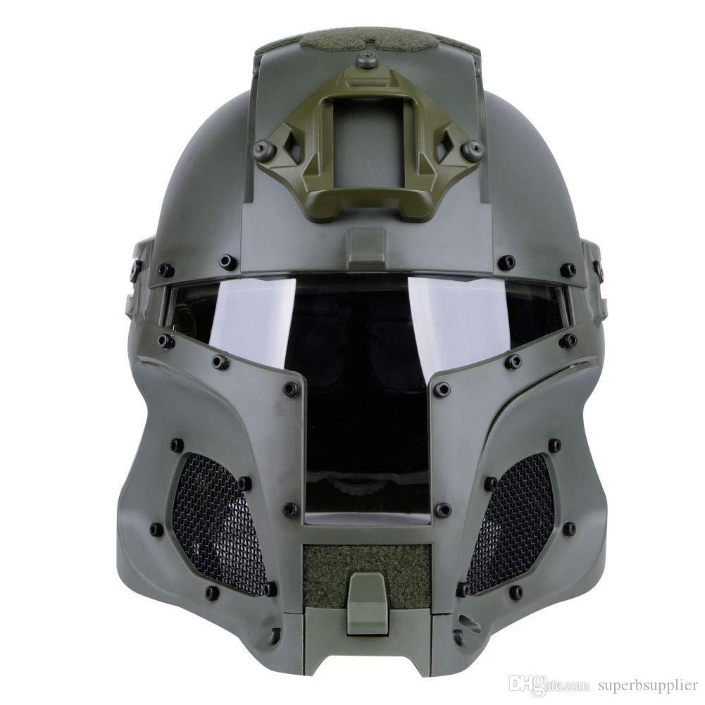 BULLETPROOF FACE MASK  VISOR for Helmets with Sides Rails-Full Face Protection