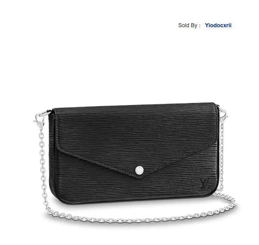 yiodocxrii EXOJ Handbag Shoulder Bag Clutch Bag Buckle Patent Leather Chain Bag M62648 Totes Handbags Shoulder Bags Backpacks Wallets Purse