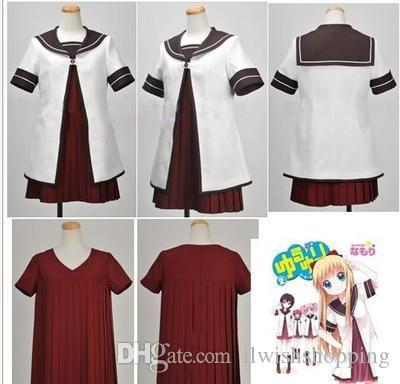 YuruYuri Nanamori Middle School Girl Uniform COS Clothing Cosplay Costume
