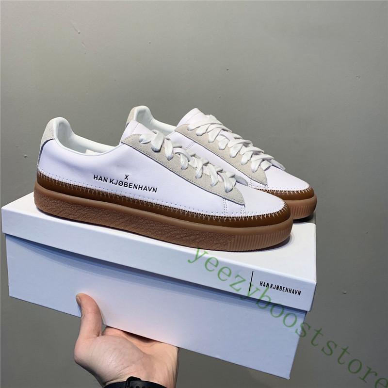 هان Kjobenhavn س كلايد مخيط ريال جلد الرجال النساء أحذية عارضة أعلى منخفض حذاء رياضة حذاء الأزواج منصة حجم 36-44