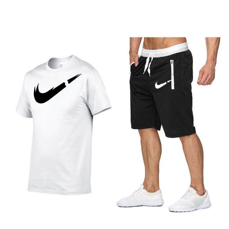 Hommes Sets hommes de DESIGNER hommes d'été Survêtement Vêtements T-Shirts + Pantacourt 2 pièces maillot de bain Set costumes de sport de jogging en plein air