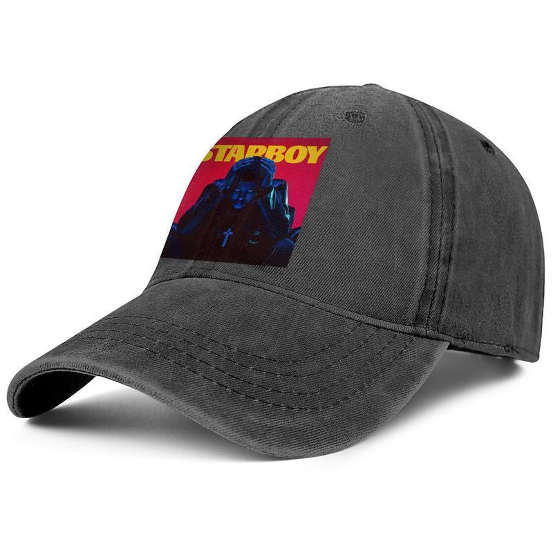 The Weeknd Starboy mens and women baseball denim cap design designer custom classicblank fashion trendycustom hats XO Logo Colorful