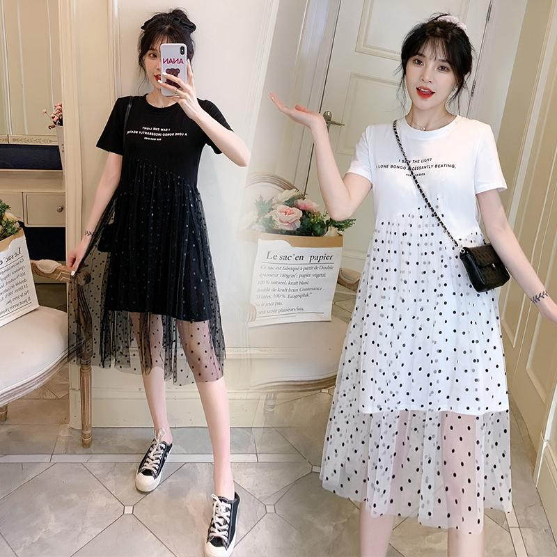 2021 8967 Maternity Clothes Summer Dot A Line Loose Stylish Dress For Pregnant Women Pregnancy Clothes From Sightly 20 23 Dhgate Com