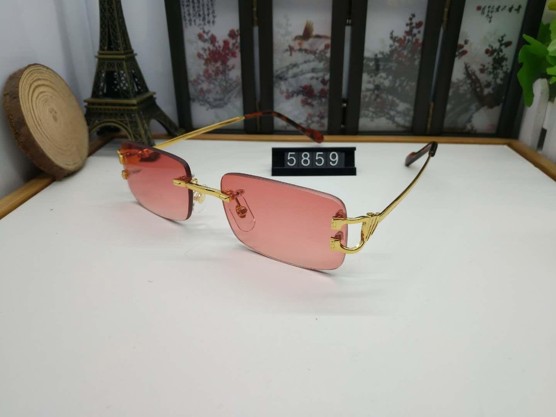 2020 무테 선글라스 남성 여성 패션 빈티지 낚시 복고풍 선글라스 스포츠 태도 동향 물소 뿔 안경 lunettes 선글라스