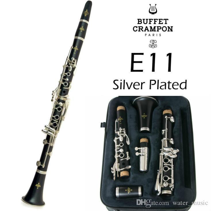 Yeni Profesyonel Klarnet Büfe krampon E11 Modeli Bb Klarnet | Gümüş Kaplama 17 Tuşlar Bir varil Yeni