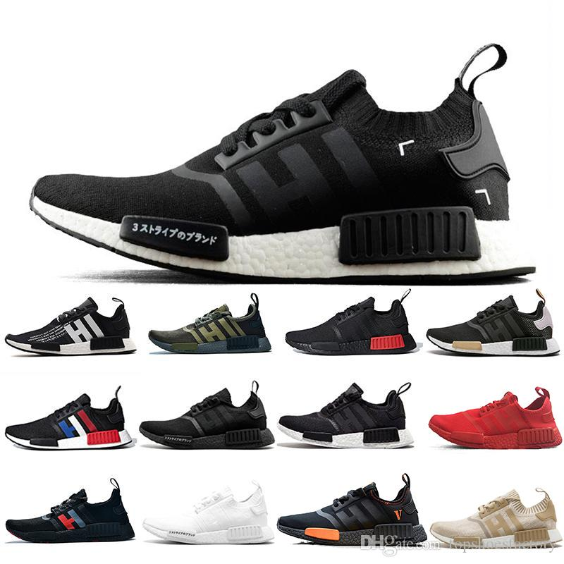 24 Colors New 2019 Nmd R1 Japan Triple White Black Men Running Shoes Bred Og Cream Oreo Camo Mens Trainers Women Sport Sneakers Size 36 45 Running Shoes Women Running Shoes For Men