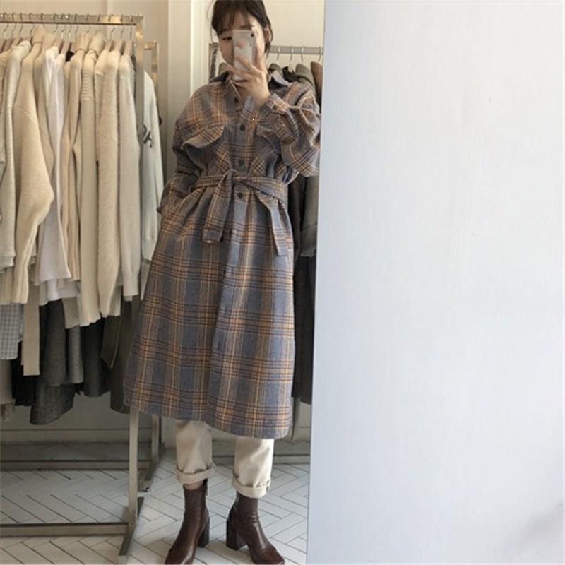 Женская шерстяная смесь женщин осень старинные с длинным рукавом пальто Элегантная повязка крючков шерстяной воротник воротника