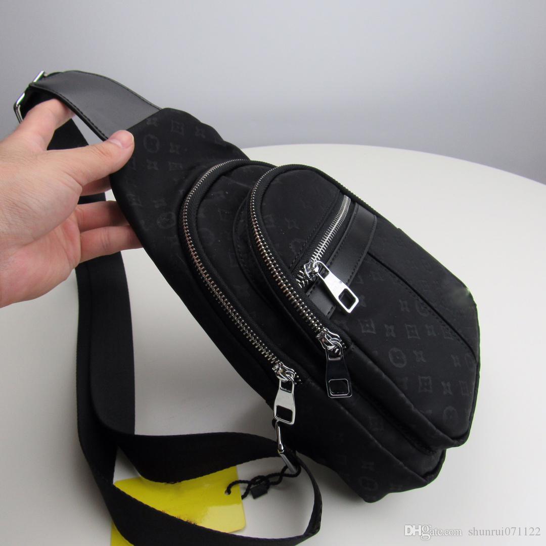 Высокое качество Завод оптовой бренд моды кожа bagBoth мужчин и женщин Crossbody сумка кожа груди мешок карманы Бесплатная доставка