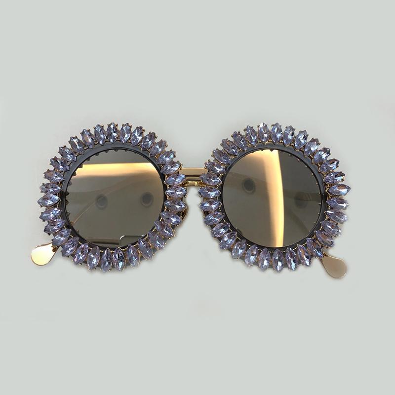 Designer New arrival moda óculos de sol verão moda ao ar livre de metal rodada óculos de sol dos homens óculos de sol das mulheres com o caso original frete grátis