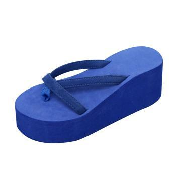HOT Sale- Platform Sandals Women High Heel Zapatillas Chinelo Shoes 2018 Summer Fashion Straped Slippers Flip Flops Black Pantufa
