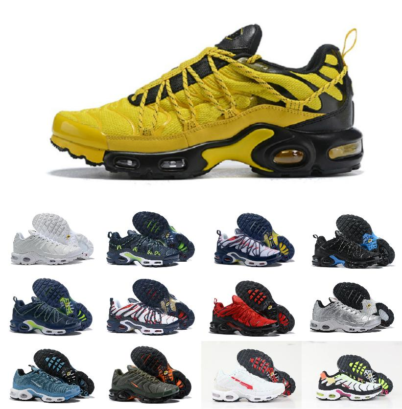 2020 Original WMNS Air Tn Plus Running Sports Shoes Mens Tn Ultra SE Chaussures Requin Trainers champagnepap Mercurial White Tripe SNEAKERS
