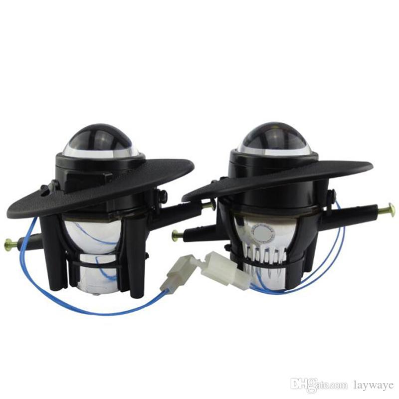 LED Halojen hid H11 H9 ampul spot Yüksek Düşük Işın HONDA CR-V 2006 için Ön tampon sis lambası lens tutucu meclisi 2011