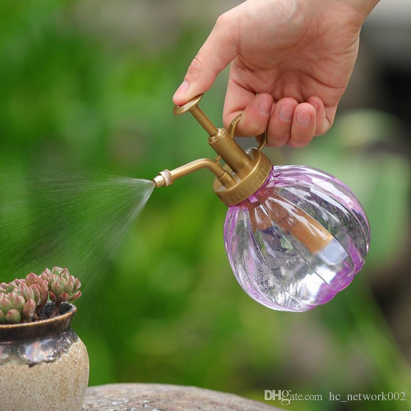 Vintage Design Plant Flower Watering Pot Spray Bottle Garden Mister Sprayer Hairdressing Watering Pot with top pump Small Garden Tool