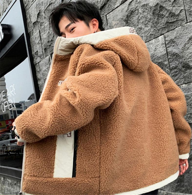 Lammwolle Winterjacke Langarm Plus Size Herren-Jacken Herren-Designer-Jacke Mode Brief Teenager