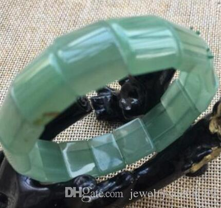 eautiful Natural green dongling jade bangle bracelets hand-made crystal stones 3 orders
