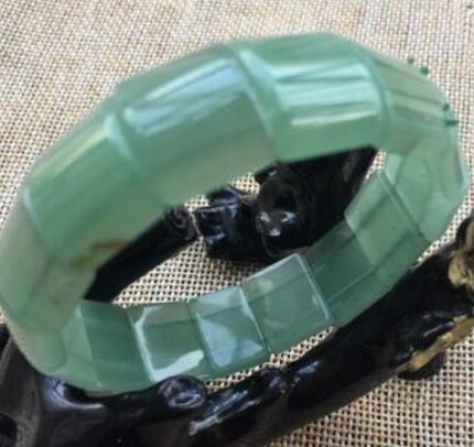 jolis bracelets jade jade vert naturel naturel avec pierres de cristal faites à la main 3 commandes