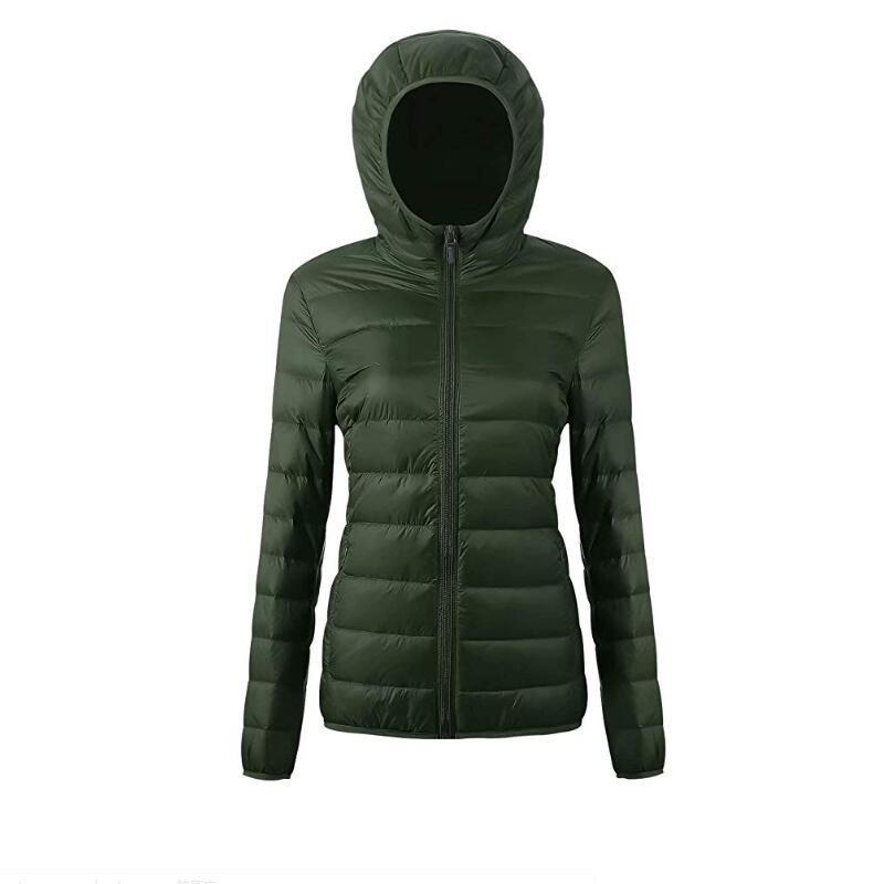 Women's Ultra Light Weight Down Jacket Short Packable Hooded Puffer Coat