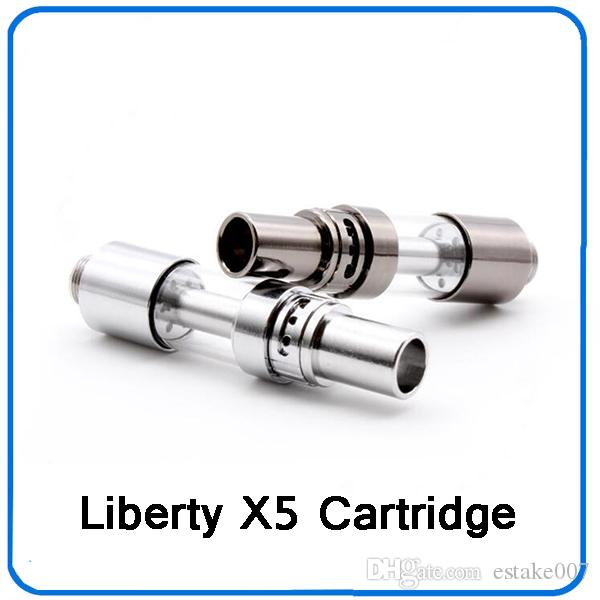 Liberty X5 Ceramic Vape Cartridge 0.5ml Tcell Ceramic Coil Tank with Adjustable Airflow For Bud Touch Preheat Battery 0266307
