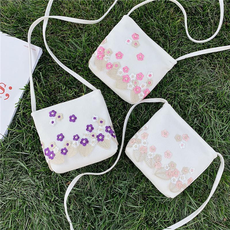 Beutel für Frauen 2020 Frauen-Segeltuch Joker nette Messenger Bag Schultertasche kleine quadratische Handtasche bolsa feminina Bolsa Tasche # J3S