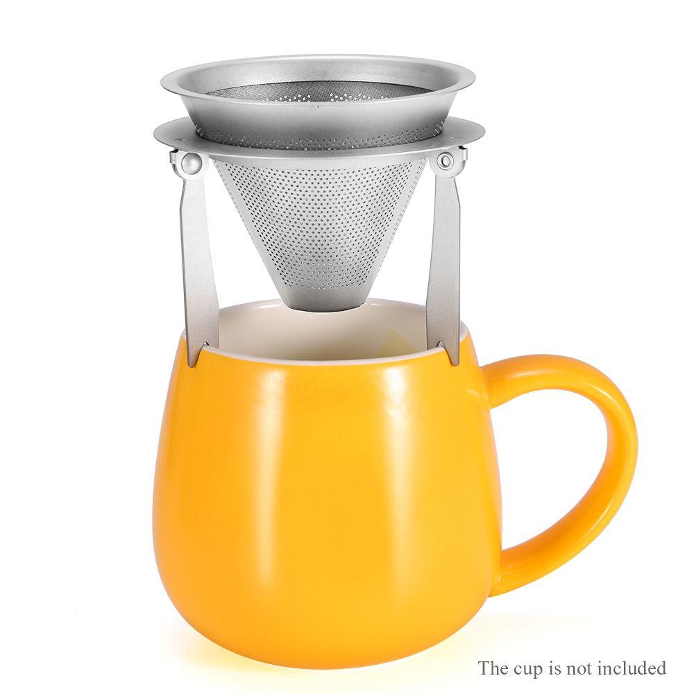 Titanio e caffè filtro esterna staccabile campeggio di corsa esterna Attrezzatura mano Punch Stufa Accesserious Picinc Portable