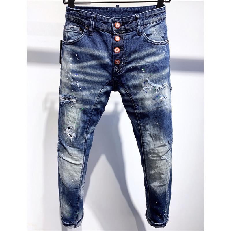 Compre 2020 Vaqueros De Diseno Para Hombre De Moda Casual Jeans De Marca Pantalones De Tela Vaquera Envejecida Rasgada Dril De Algodon Bordado Jean Pantalones De Lujo 9 Estilos 2020740k A 85 15