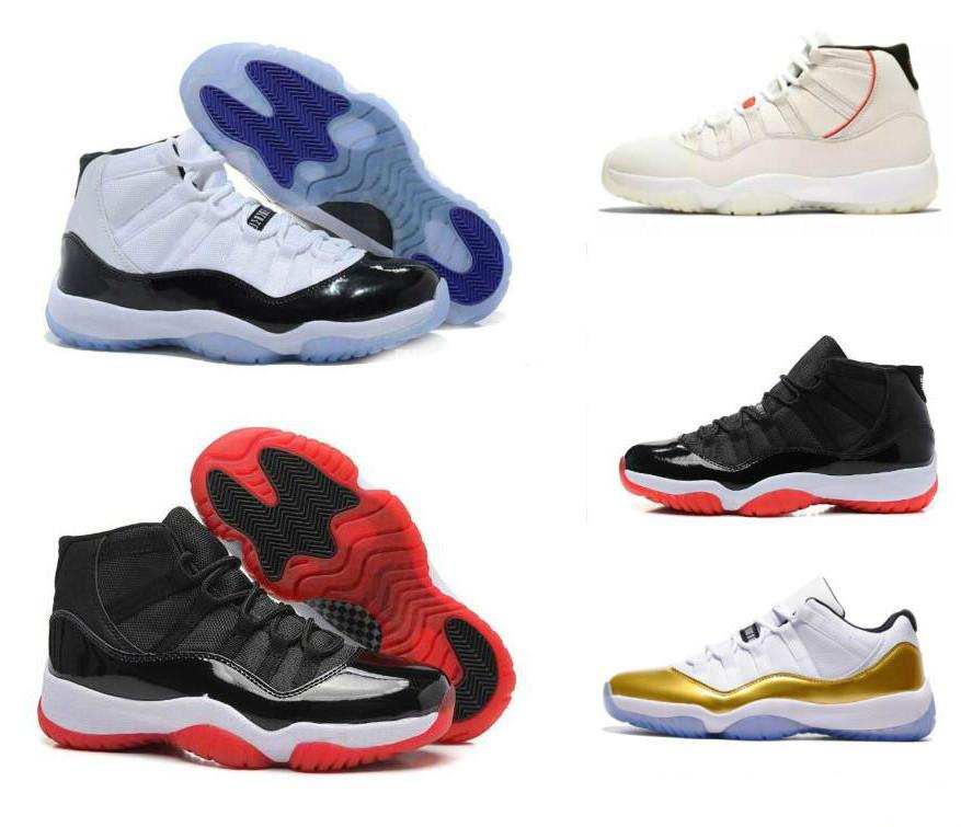 Neue 11s Basketball-Schuh-Gamma Blau Concord Space Jam Bred Legend High Low Frauen-Männer 2019 Designer Günstige 11-Schuh-Turnschuhe mit Kasten