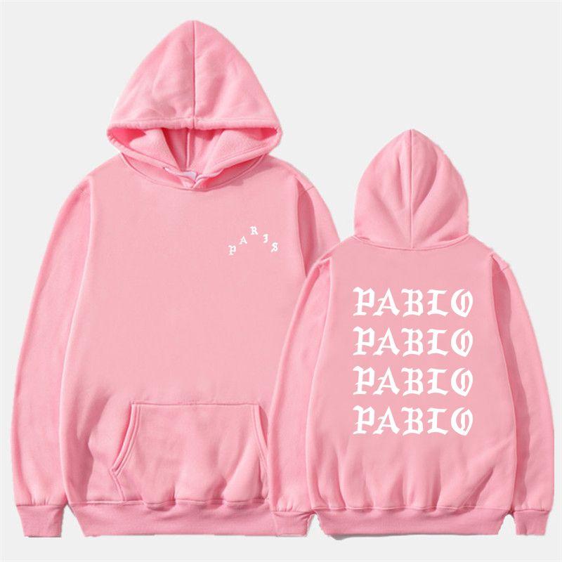 Fashion Off Autumn Winter Sweatshirts Men Funny Letter Hoodies I Feel Like Pablo Hoodie Sweatshirt Hip Hop Fleece Pullover Tops