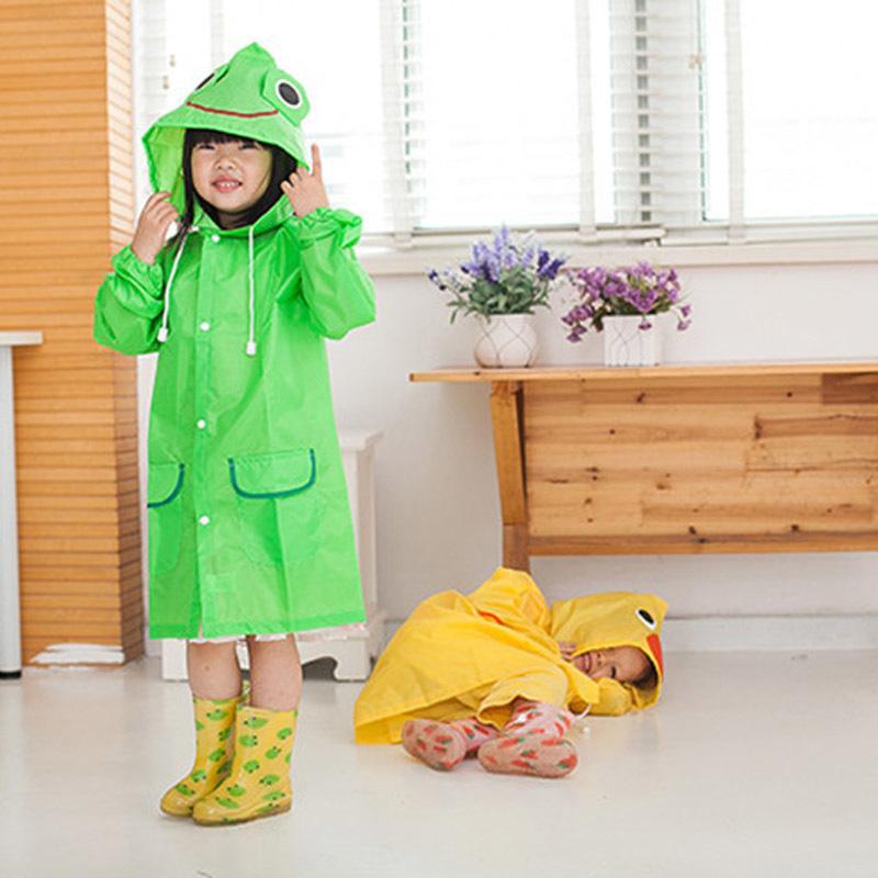Brasão Crianças Animal Estilo Waterproof Raincoat Rainwear Unissex dos desenhos animados Crianças Raincoats JJ-SYYY BP Crianças Chuva 09-