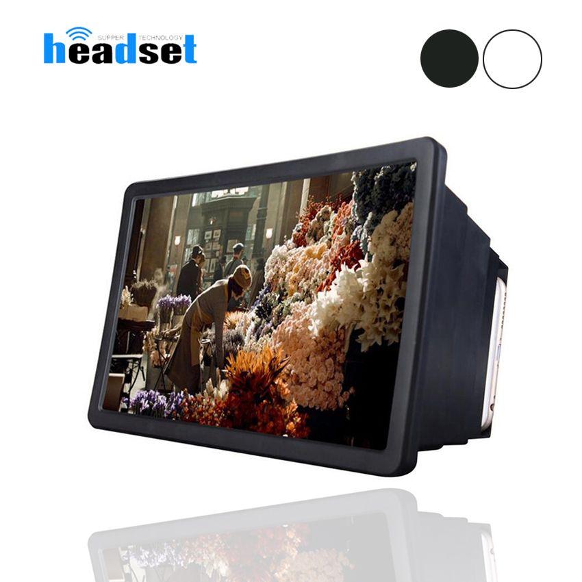 Pantalla de vídeo del teléfono móvil del sostenedor del soporte de la lupa Amplificador Expander para la película 3D de la pantalla de visualización del teléfono lupa para Móvil