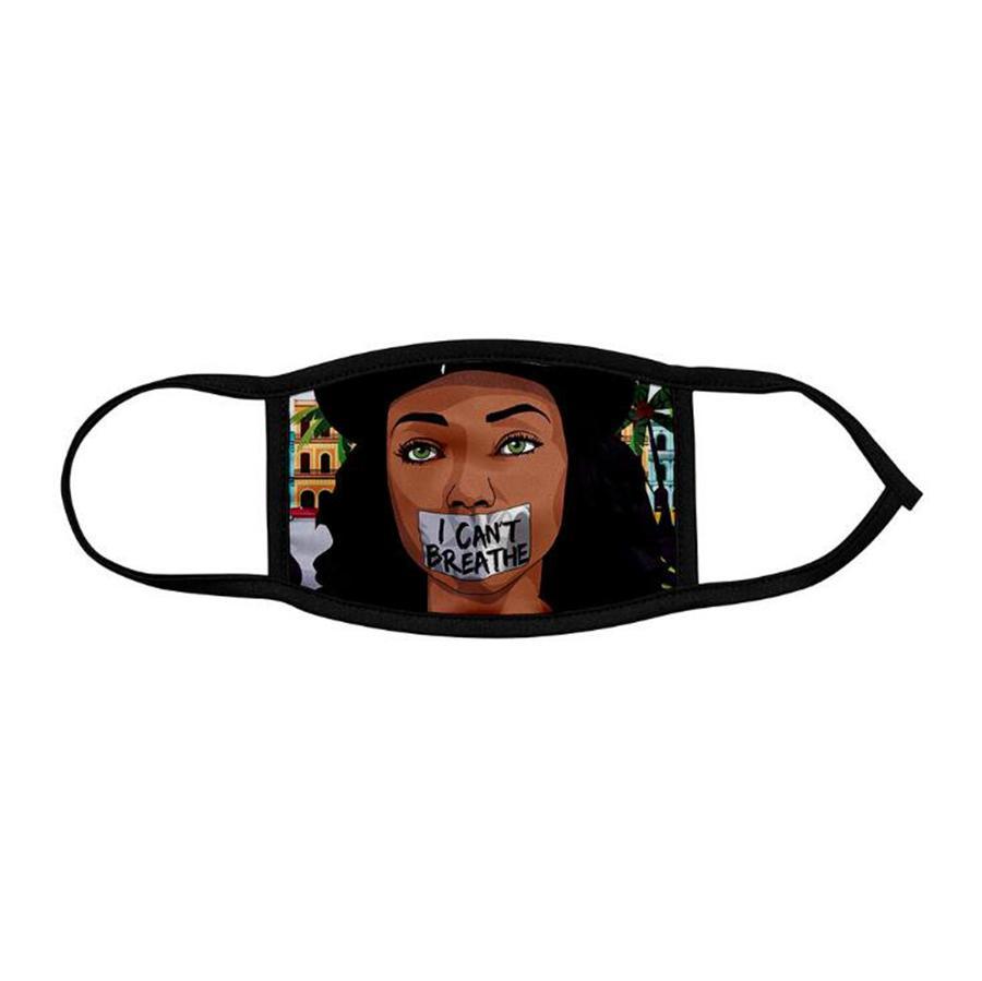 Ich kann nicht atmen Maske 3 Styles Erwachsene Kinder-Eis-Silk Breath 3D Digital Printed Gesichtsmaske OOA8051