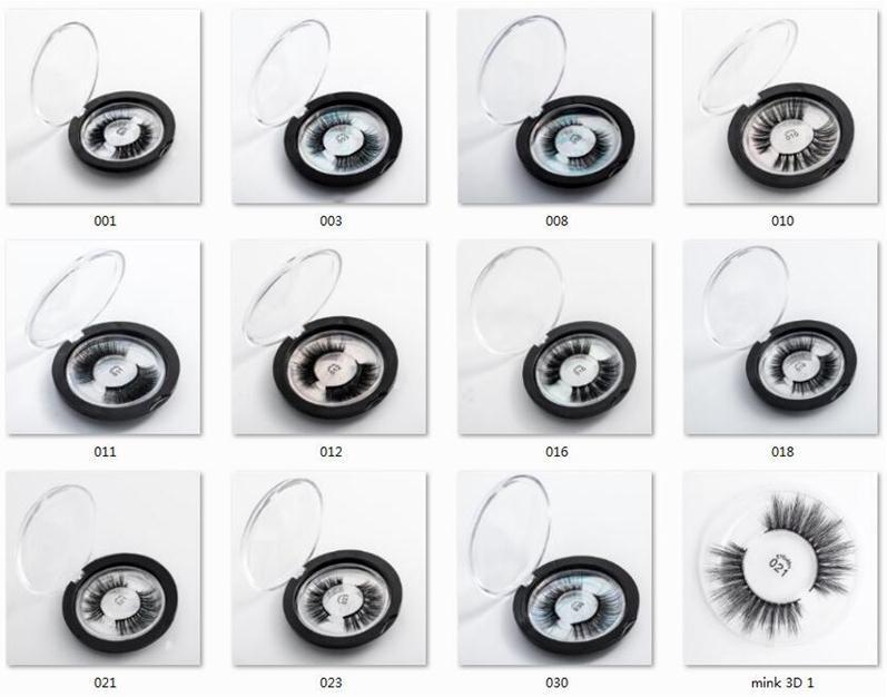 23 stili selezionabile 3D finto visone ciglia OEM / custom Proteine della Seta 3D Lashes 100% Cruelty Free Eye Lashes
