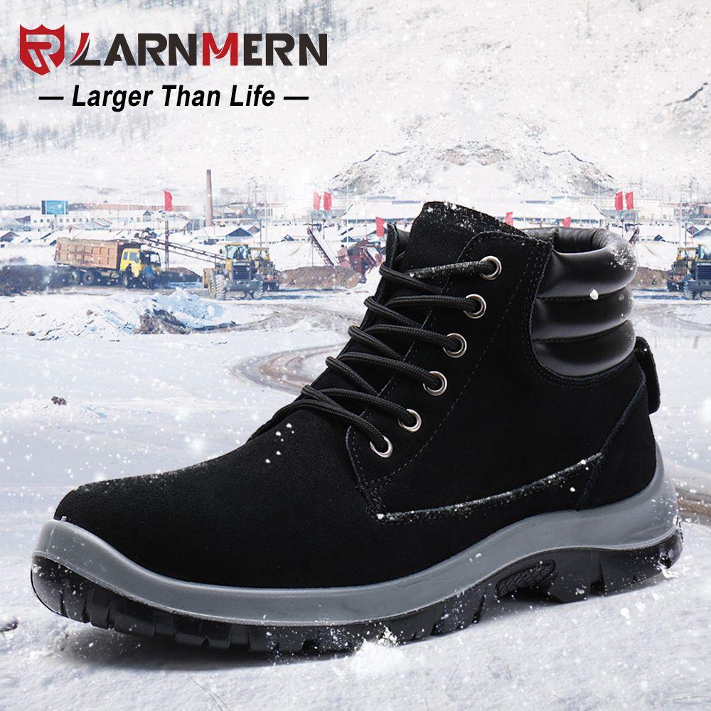 LARNMERN Winter warm Sicherheitsschuhe Männer Schnee Stahlzeheaufladungen Special Force Tactical Desert Combat Ankle Boot Schuhe