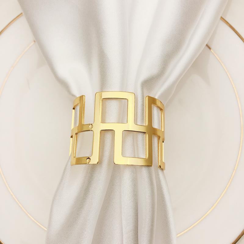 İçi boş Peçete Halkası 4,5 Cm Altın Gümüş Doku Kağıt Yok Baskı Toka Ev Dekorasyon Paslanmaz Çelik Mutfak Peçete Halkası