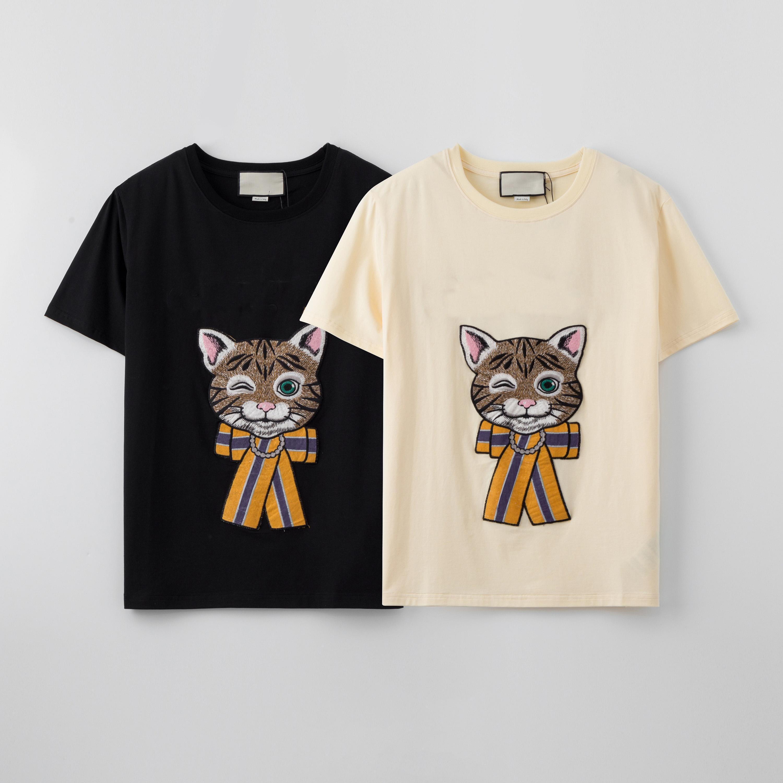 Tops Luxo 2020 Chegada Nova Designer Verão T Shirt New Men Moda T Shirt Marca T com gato Hot Sale Camisas Casual S-2XL-2
